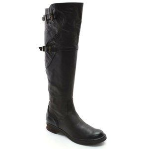 Alberto Fermani Brown Buckle Riding Knee Boots 36